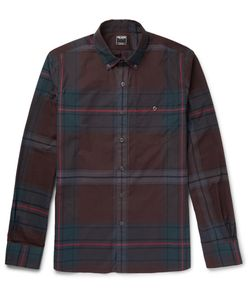 TODD SNYDER | Lim-Fit Button-Down Collar Checked Cotton Hirt