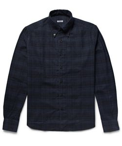 Eidos | Button-Down Collar Checked Cotton-Flannel Hirt