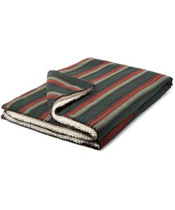 Faherty | Aspen Striped Cotton And Faux Shearling Blanket