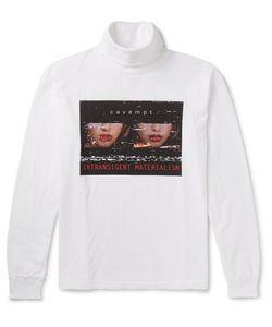 CAV EMPT | Printed Cotton-Jersey Roneck Top