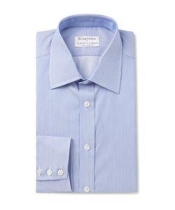 Kingsman   Turnbull Asser Slim-Fit Striped Cotton Shirt