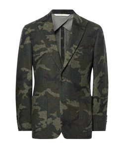 Freemans Sporting Club | Havana Slim-Fit Unstructured Camouflage Wool-Blend Jacquard Blazer