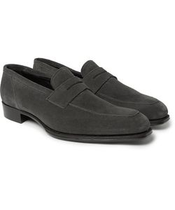 Kingsman   George Cleverley Newport Suede Penny Loafers