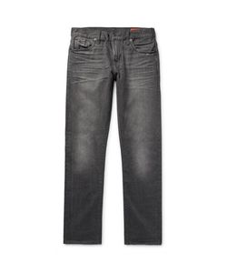 JEAN SHOP | Mick Slim-Fit Distressed Selvedge Denim Jeans