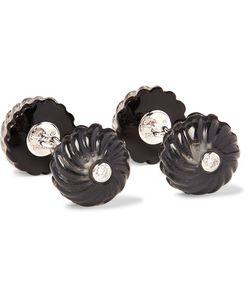 Trianon   18-Karat Onyx And Diamond Cufflinks