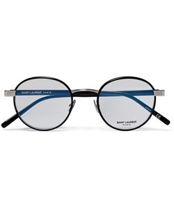 Saint Laurent | Round-Frame Tone And Acetate Optical Glasses