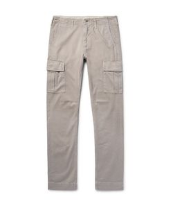 JEAN SHOP | Gene Slim-Fit Cotton-Twill Cargo Trousers