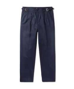 RUBINACCI | Manny Tapered Pleated Wool Trousers