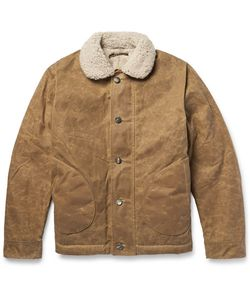 Freemans Sporting Club | N1 Shearling-Trimmed Texwaxtrade Jacket