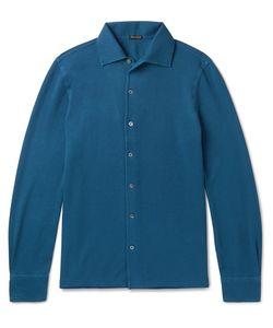 RUBINACCI | Slim-Fit Cotton-Piqué Polo Shirt