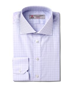 Turnbull & Asser | Slim-Fit Windowpane-Checked Cotton Shirt