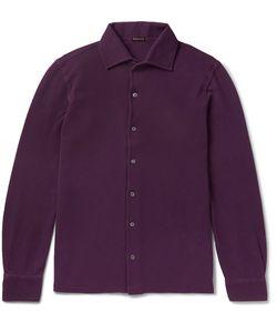 RUBINACCI | Slim-Fit Cotton-Piqué Shirt