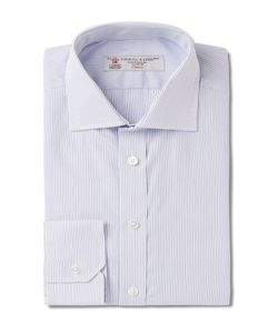 Turnbull & Asser | Slim-Fit Pinstriped Cotton Shirt
