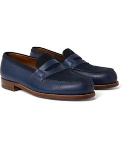 J.M. Weston | 180 The Moccasin Full-Grain Leather And Suede Penny Loafers