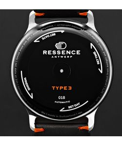 Ressence | Type 3 Titanium And Leather Watch