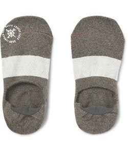 Mr. Gray | Two-Tone Élange Cotton-Blend No-Show Socks