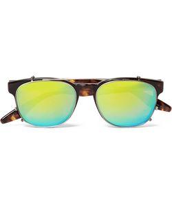 BARTON PERREIRA   Byron Tortoiseshell Aviator-Style Optical Glasses With Clip-On Mirrored Uv Lenses