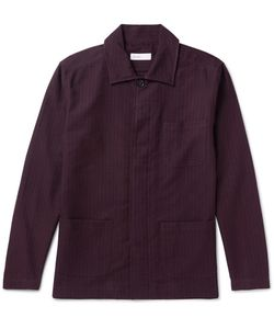 Several | Curzon Pinstriped Cotton And Woo-Bend Shirt Jacket