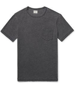 Faherty | Indigo-Dyed Slub Cotton-Jersey T-Shirt