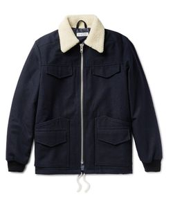 Several | Walker Faux Shearling-Trimmed Wool And Cotton-Blend Jacket