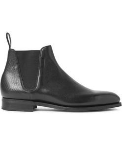 EDWARD GREEN | Camden Cross-Grain Leather Chelsea Boots