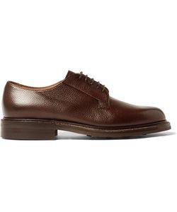 CHEANEY | Deal Burnished Pebble-Grain Leather Derby Shoes