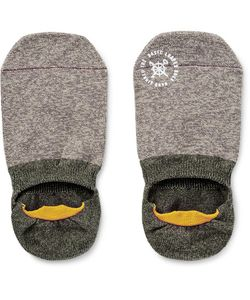 Mr. Gray | Two-Tone Mélange Stretch-Knit No-Show Socks
