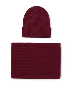 William Lockie | Ribbed Cashmere Beanie And Scarf Set
