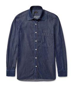RUBINACCI | Slim-Fit Spread-Collar End-On-End Cotton Shirt