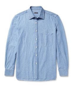 RUBINACCI | Slim-Fit Cotton-Chambray Shirt