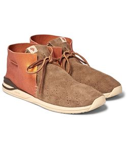 Visvim | Huron Leather And Suede Sneakers