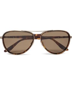 BARTON PERREIRA   Gazarri Aviator-Style Acetate And Tone Sunglasses