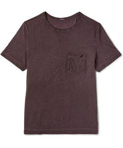 Massimo Alba   Panarea Lim-Fit Garment-Dyed Cotton-Jerey T-Hirt