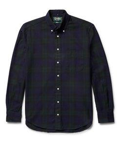 Gitman Vintage | Button-Down Collar Checked Cotton Oxford Shirt