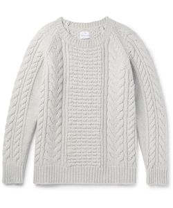 Kingsman | Slim-Fit Cable-Knit Wool And Cashmere-Blend Sweater