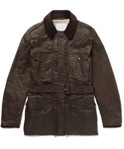 Kingsman   Mackintosh Merlin Corduroy-Trimmed Waxed-Cotton Field Jacket