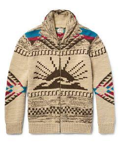 Faherty | Shawl-Collar Merino Wool And Alpaca-Blend Zip-Up Cardigan