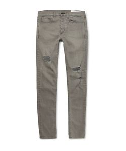 Rag & Bone | Slim-Fit Distressed Stretch-Denim Jeans