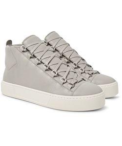 Balenciaga | Arena Full-Grain Leather High-Top Sneakers