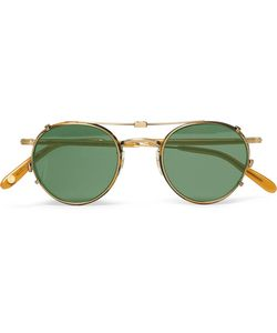 Garrett Leight California Optical | Wilson 46 Round-Frame Acetate And Tone Optical Glasses With Clip-On