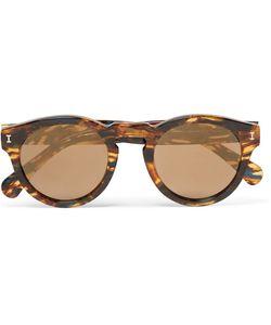 ILLESTEVA | Leonard Round-Frame Acetate Mirrored Sunglasses