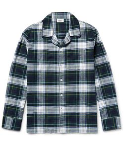 Sleepy Jones | Henry Checked Cotton-Flannel Pyjama Hirt