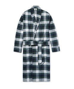 Sleepy Jones | Checked Cotton-Flannel Robe