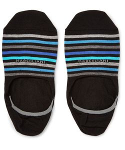 Marcoliani | Invisible Touch Striped Pima Cotton-Blend No-Show Socks