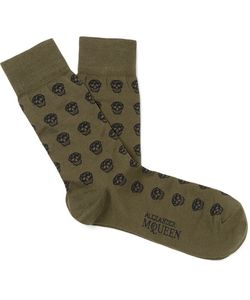 Alexander McQueen | Skull-Patterned Cotton-Blend Jacquard Socks