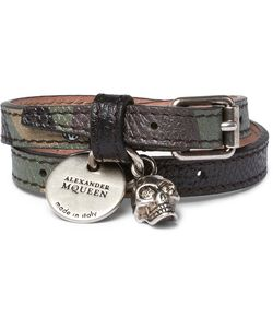 Alexander McQueen | Camouflage-Print Leather Tone And Swarovski Crystal Wrap Bracelet