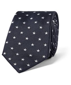 Paul Smith | 6cm Star-Embroidered Silk Tie