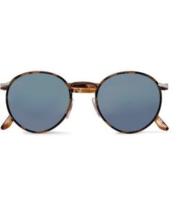 Persol | Round-Frame Acetate Mirrored Sunglasses
