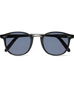 CUTLER & GROSS | Round-Frame Acetate And Tone Sunglasses