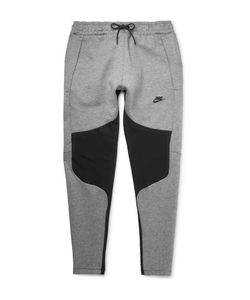 Nike | Tapered Panelled Cotton-Blend Tech Fleece Sweatpants